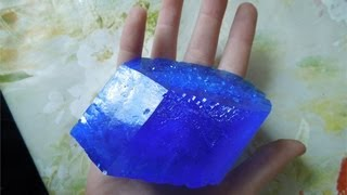 Выращивание кристаллов из медного купороса.