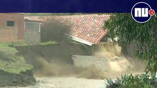 Huis stort deels in na hevige regenval zuiden Californië