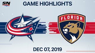 NHL Highlights | Blue Jackets vs Panthers - Dec. 7, 2019