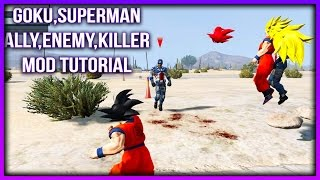 Video How to Install Superman Scripts Mod (Goku), Spawn Addon Peds Bodyguard GTA 5 download MP3, 3GP, MP4, WEBM, AVI, FLV April 2018
