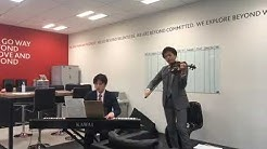 Morgan McKinley Asset Management  Music concert rehearsal in the office