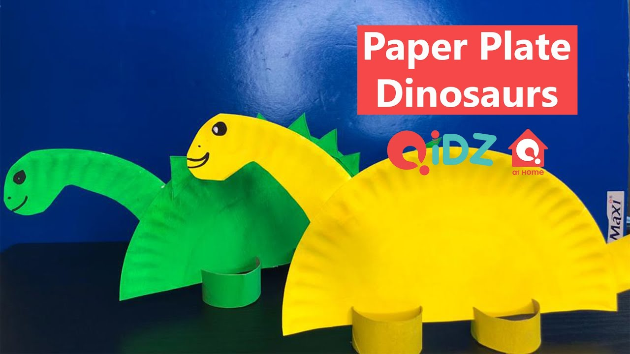 Paper Plate Dinosaurs | Indoor Activities for Kids | QiDZ at Home