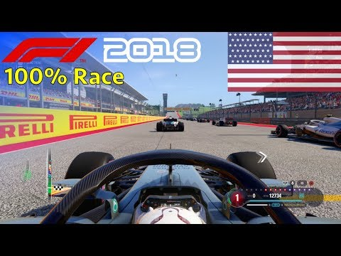 F1 2018 - 100% Race @ Circuit of the Americas, USA in Hamilton's Mercedes