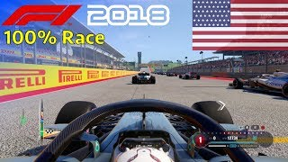 F1 2018 - 100% Race @ Circuit of the Americas, USA in Hamilton
