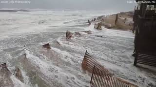 Hurricane Florence video: Storm surge rushes ashore in Avon