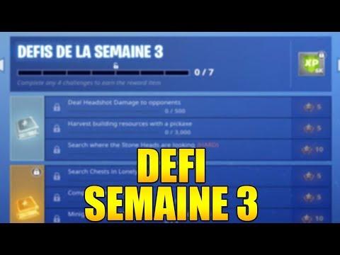 LISTE DES DEFIS  SAISON 8 DE LA SEMAINE 3 ASTUCE ET GUIDE sur FORTNITE BATTLE ROYALE !