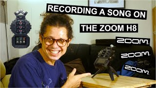 I test the Zoom H8 in music app mode - quick review 8 track recording