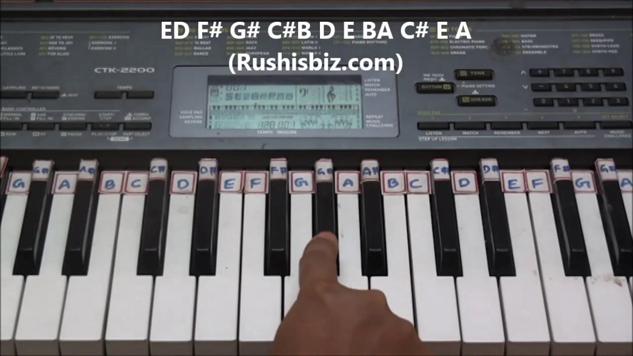 nokia tune piano sheet