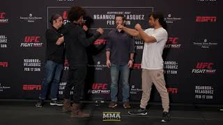 UFC Phoenix: Alex Caceres vs. Kron Gracie Media Day Staredown - MMA Fighting