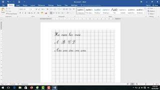 Cách tạo vở tập viết trong Word |Link và cách cài Font chữ tập viết Pistol channel