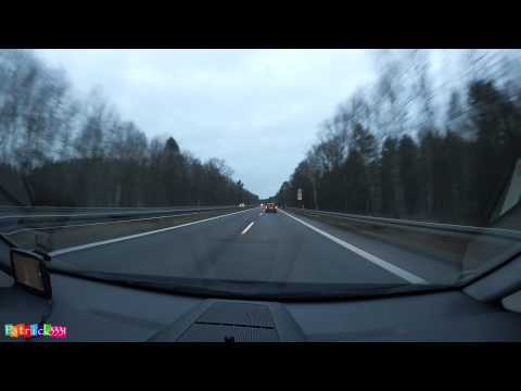No speedlimit - German Autobahn - Dresden to Berlin December 2014