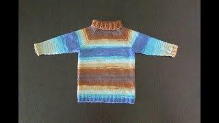 Детский свитер реглан спицами