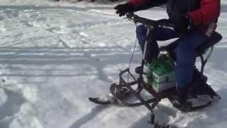 snowmobile;electrique ;24volts dc; homemade ;by paquet-racing; quebec levis