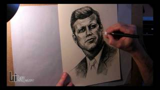 Portrait of John F. Kennedy by Igor Lukyanov (Famous JFK Quotes Included)