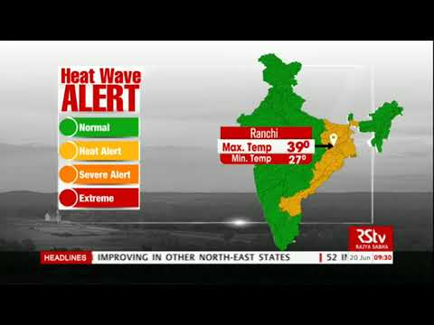 Today's Weather : Heat Wave Alert | June 20, 2018