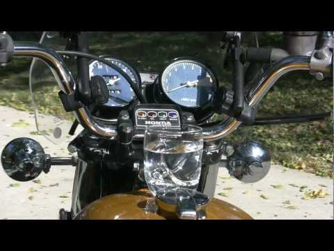 Honda CB750 K2 - Place the Water Glass on the Gas Tank Challenge