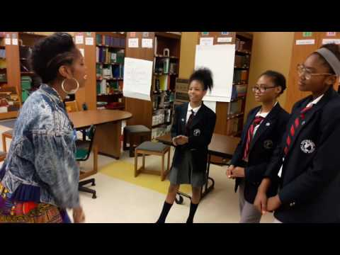 Suzann Christine sings at West Oak Lane charter School