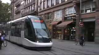 Strasbourg (France) Tramway. Трамвай Страсбурга (Франция). 18.10.2011(Трамвайная система столицы Эльзаса города Страсбурга, Съёмки 18 октября 2011 г. Первая во Франции полностью..., 2014-10-22T08:44:14.000Z)