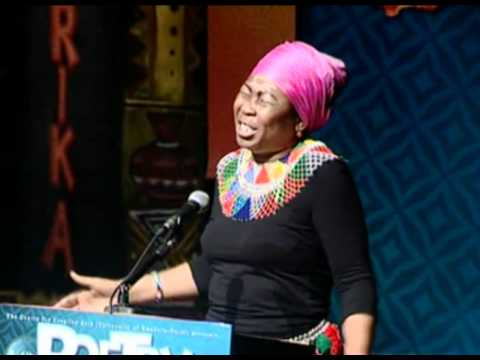 Gcina Mhlophe at Poetry Africa 2010