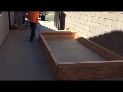 My raised wooden koi pond construction part 1