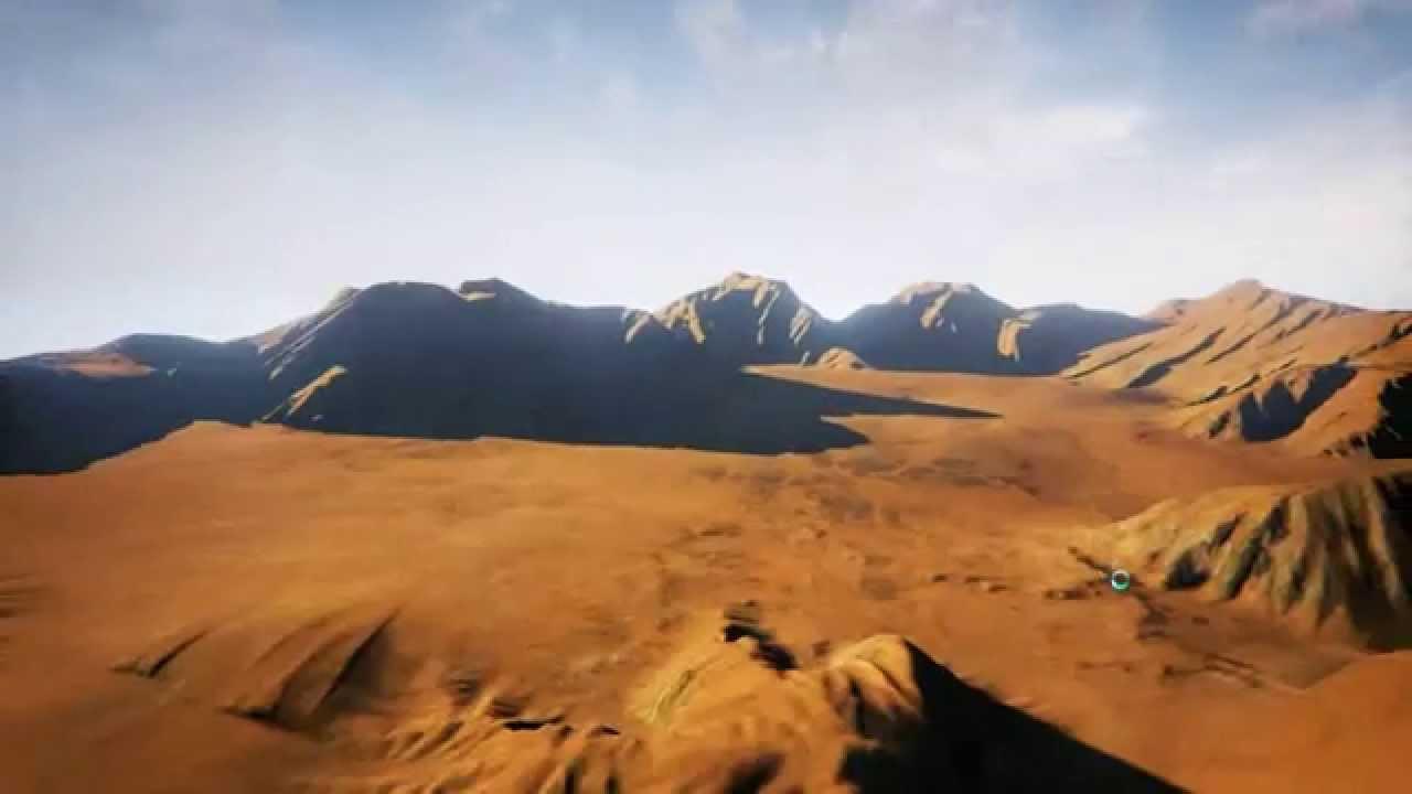 ue4 desert terrain example map