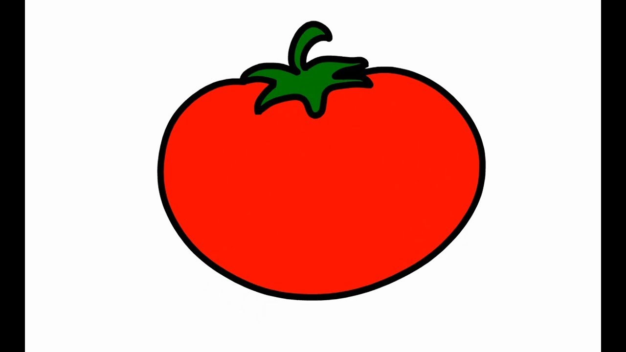 How to Draw Tomato Coloring Pages for Childrens Learn Color for Kids ...