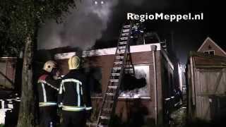 Woningbrand in Meppel