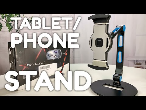 Adjustable Multi-Angle Metal Tablet Stand by Ewin Review