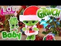 How THE GRINCH Stole Christmas Custom LOL Surprise DOLLS Easy Toys Movie DIY with BABY GRINCH