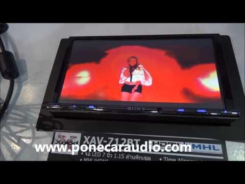 SONY XAV-712BT 2DIN ราคา โทร.02-9323485 วิธีใช้งาน CAR AUDIO 2014 BY P.ONE
