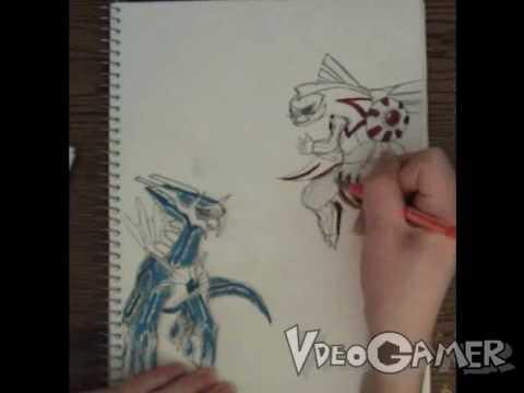 How To Draw Palkia Vs Dialga Pokemon Youtube