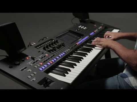 Playlist -create, easily organise the list, instanly recall settings. Yamaha Genos