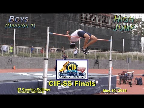 2018 TF - CIF-ss FINALS - High Jump (Boys - D1)