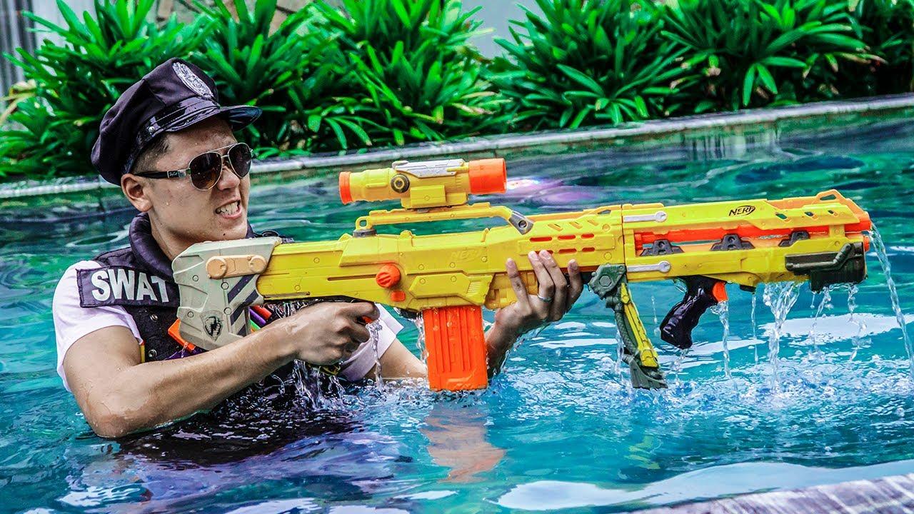LTT Game Nerf War : Captain Warriors SEAL X Nerf Guns Fight Rocket Crazy Holiday Destroyers
