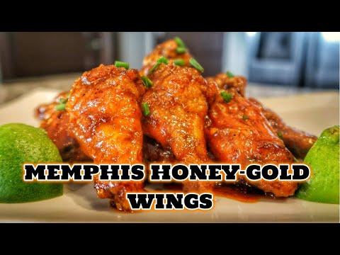 Memphis Honey Gold Chicken Wings In The Oven | Homemade Honey Gold Sauce