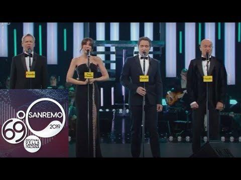 Sanremo 2019 - L'omaggio al Quartetto Cetra con Claudio Santamaria