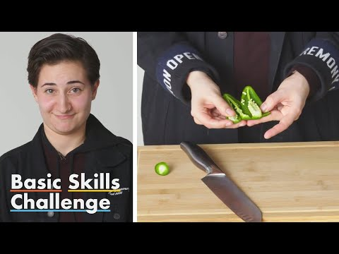 50 People Try to Chop and Deseed a Jalapeño Pepper | Epicurious
