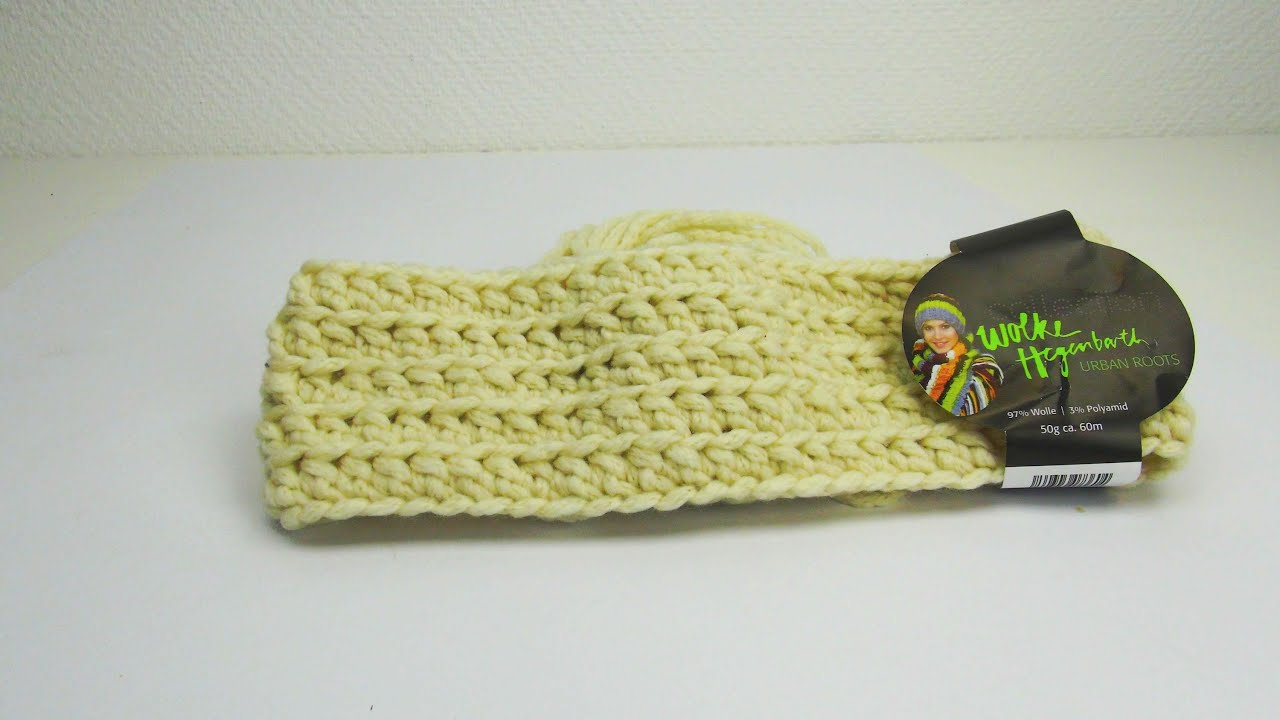 Stirnband HÄKELN für Herbst und Winter | Tolles Stirnband in beige ...