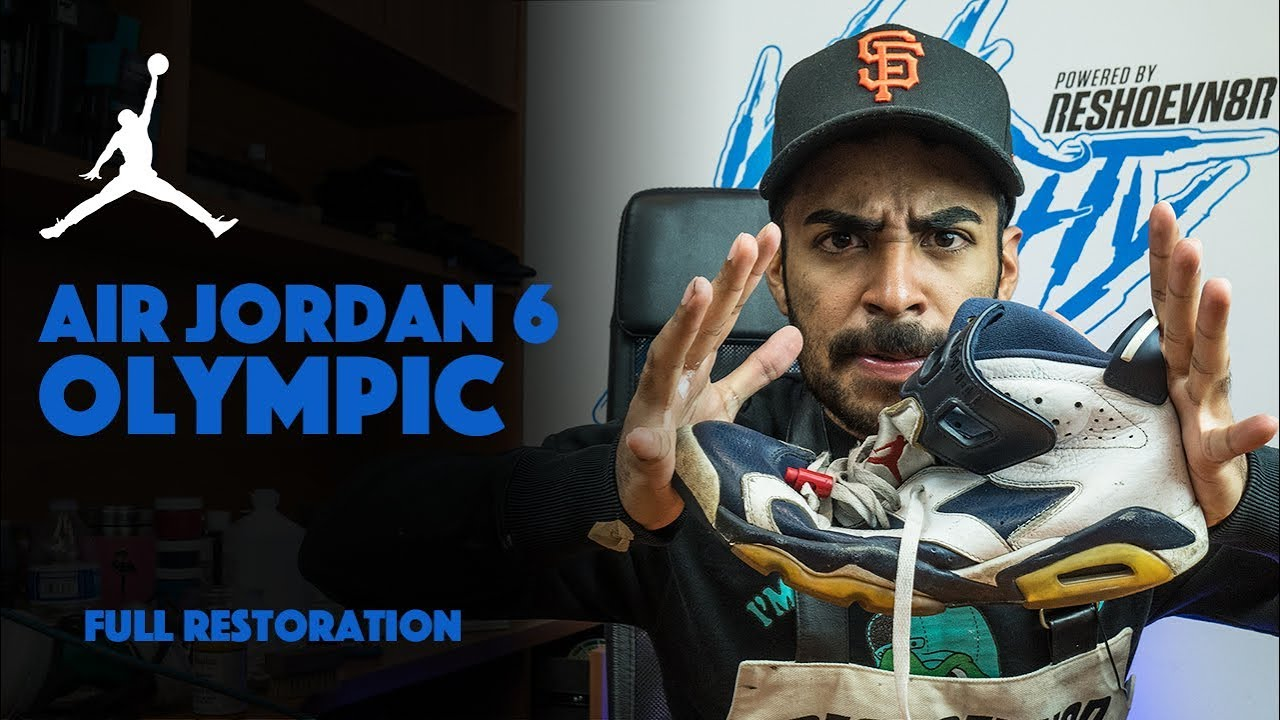 6f233521e525 Air Jordan 6 Olympic Restoration By Vick Almighty! - YouTube