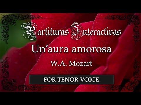 Un'aura amorosa - W. A. Mozart (Karaoke - Original Key: A major)