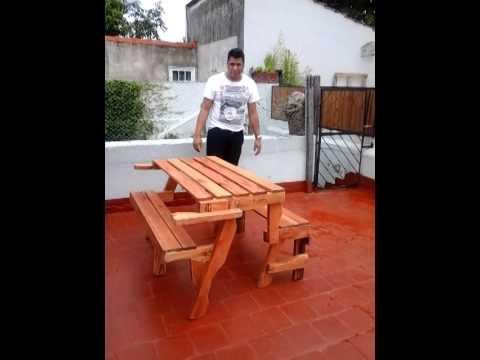 Banco mesa convertible youtube - Banco convertible en mesa ...