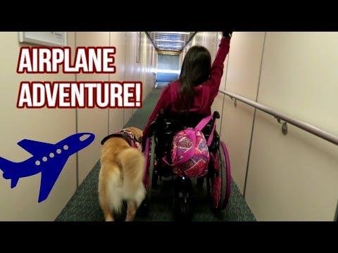✈ Flying With A Service Dog, Feeding Tube & Wheelchair! 🐕♿ (4/13/18)