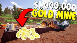 Building $1,000,000 Gold Mining Base in Gold Mine Simulator | Hydroneer Gameplay