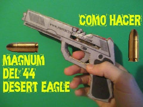 Como hacer una magnum del 44 desert eagle de cartón que func