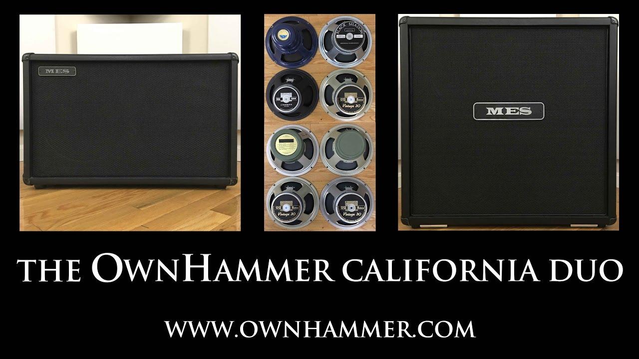 Introducing the OwnHammer 'California Duo' impulse response library