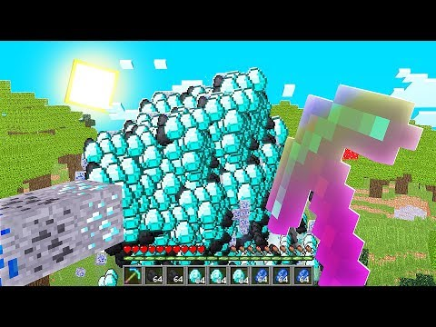 Mining Diamonds With A FORTUNE 32767 Pickaxe In Minecraft (Max Level Enchantments)