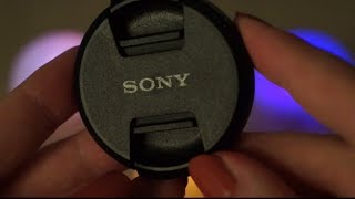 ASMR. Handling, Touching & Scratching a Camera on a Tripod