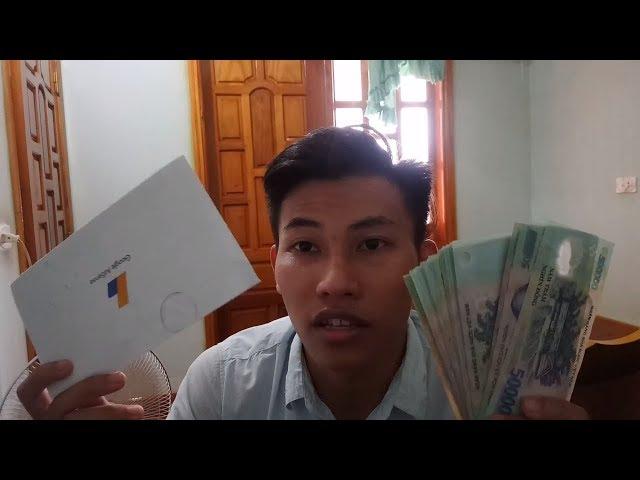 LẦN ĐẦU ĐI NHẬN TIỀN $ TỪ YOUTUBE - GOOGLE ADSENSE KIẾM TIỀN TỪ VIỆC SỐNG ẢO $$$