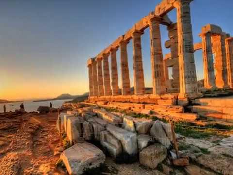 Cape Sounion |  Attica peninsula | Greece |  the ruins of the ancient Greek temple of Poseidon,