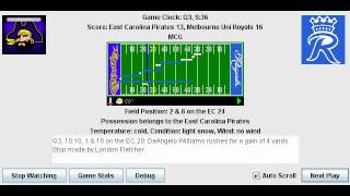 week 8 east carolina pirates 7 0 melbourne uni royals 5 2